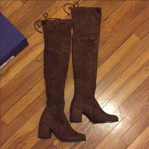 NEW Stuart Weitzman Tieland boots - Walnut brown